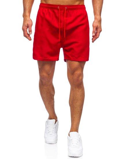 Бордові чоловічі пляжні шорти Bolf YW02001