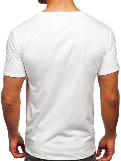 Біла чоловіча футболка з принтом Bolf Y70031