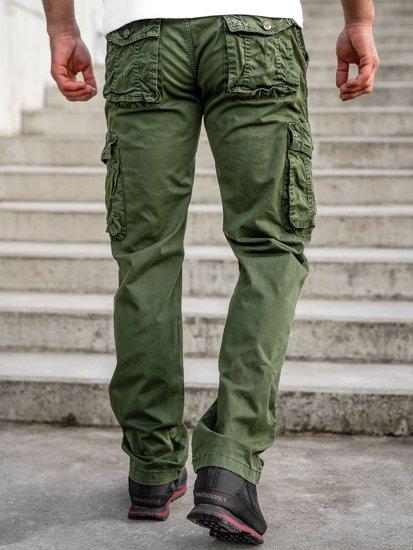 Зелені чоловічі штани карго з ременем Bolf CT8906