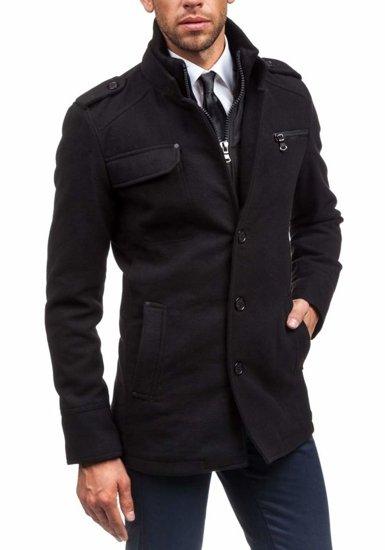 Пальто зимове чоловіче чорне Bolf 8856B