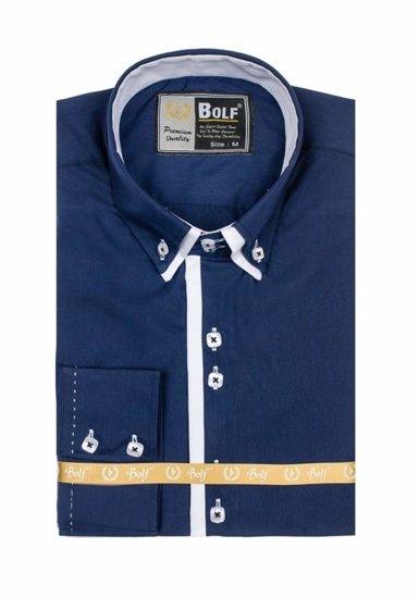 Сорочка чоловіча BOLF 1721-1 темно-синя
