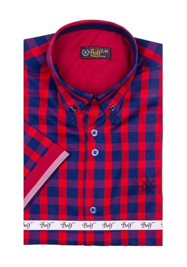 Сорочка чоловіча BOLF 4508 червона
