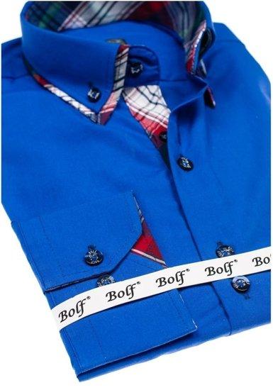 Сорочка чоловіча BOLF 4704 волошкова