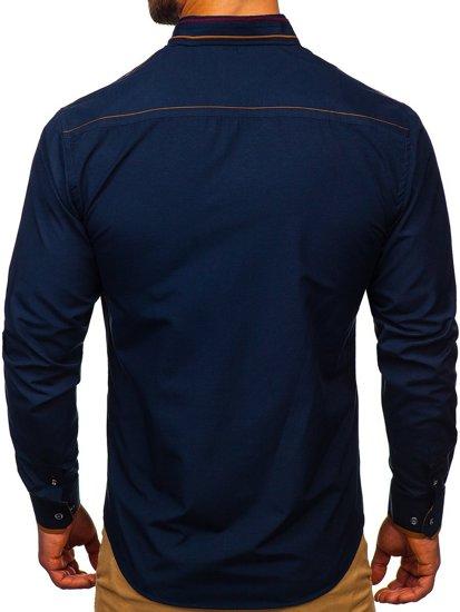 Сорочка чоловіча BOLF 4707 темно-синя