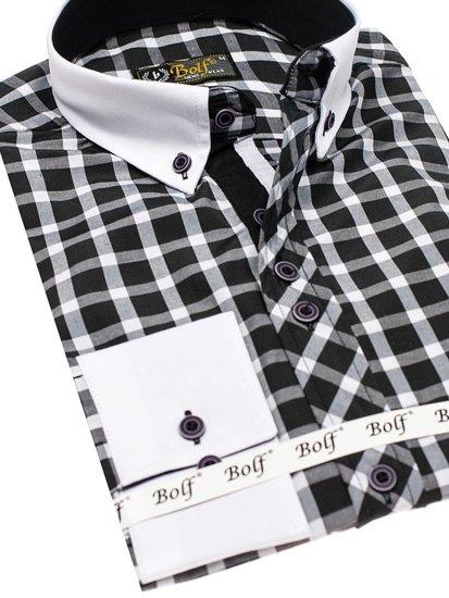 Сорочка чоловіча BOLF 5737 чорна