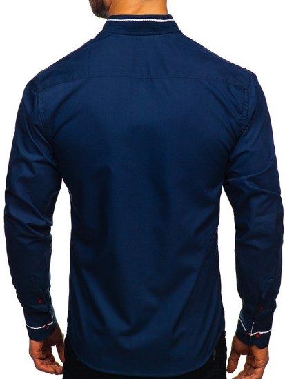 Сорочка чоловіча BOLF 5826 темно-синя