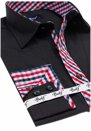 Сорочка чоловіча BOLF 6867 чорна