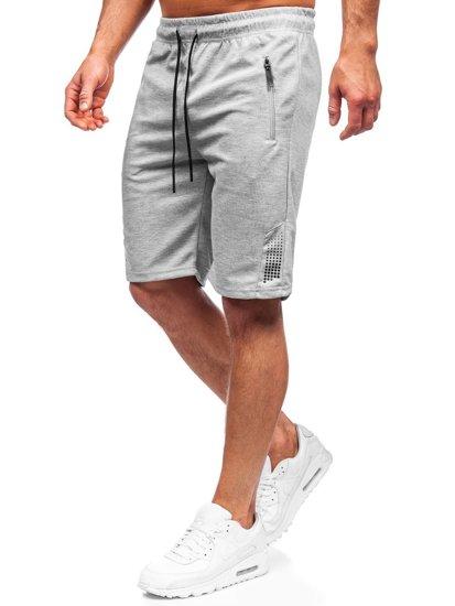 Сірі чоловічі спортивні шорти Bolf JX205