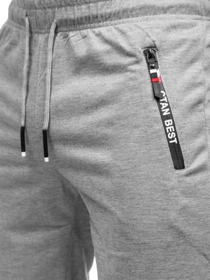 Сірі чоловічі спортивні шорти Bolf JX503