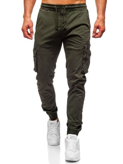 Темно-зелені чоловічі штани джоггери карго Bolf CT6702S0