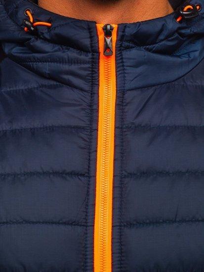 Темно-синя спортивна чоловіча демісезонна куртка Bolf M10002