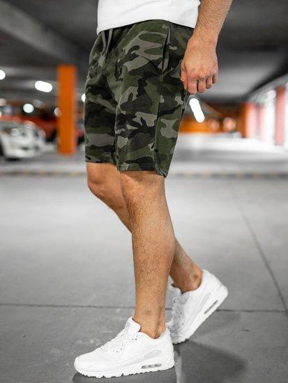 Хакі спортивні шорти камуфляжні чоловічі Bolf K10036