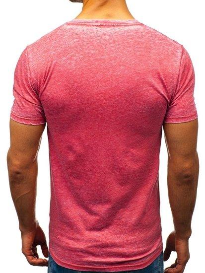 Червона футболка чоловіча з принтом Bolf 7645