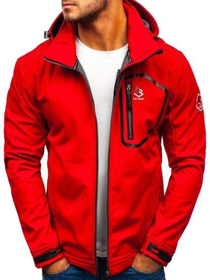 Червона чоловіча демісезона куртка Bolf 004A
