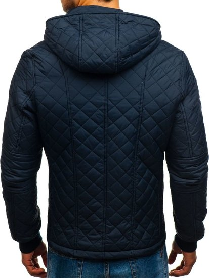 Чоловіча демісезона куртка темно-синя Bolf 8208