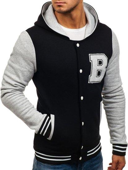 Чоловіча демісезонна куртка чорна Bolf 07S