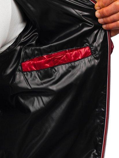 Чоловіча демісезонна спортивна куртка чорна Bolf 1908