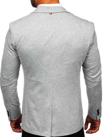 Чоловічий елегантний піджак сірий Bolf 1652