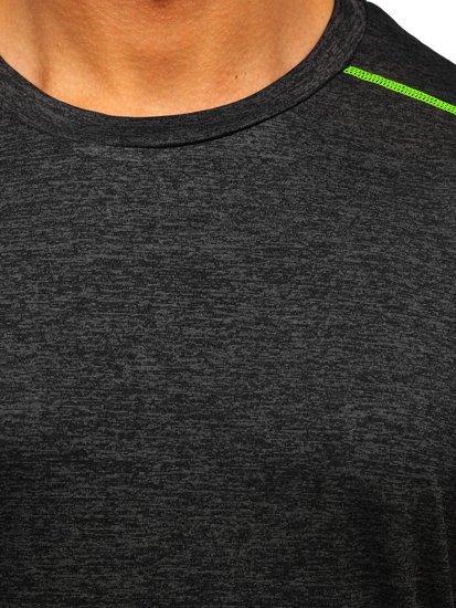 Чорна чоловіча спортивна футболка Bolf HM075