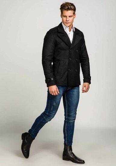 Чорне чоловіче зимове пальто Bolf 3118