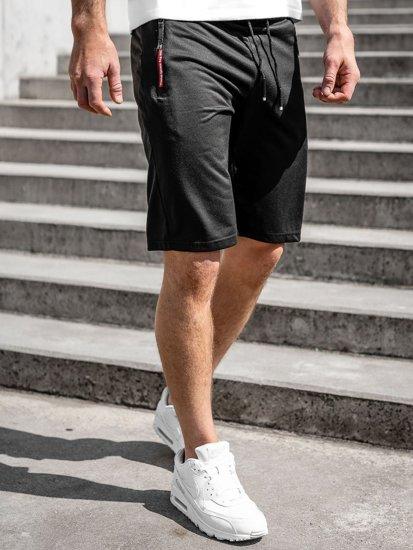 Чорні чоловічі спортивні шорти Bolf JX511