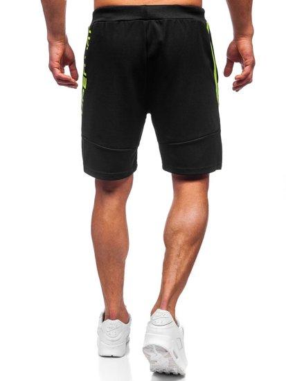 Чорні чоловічі спортивні шорти Bolf KS2596