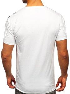 Біла чоловіча футболка з принтом Bolf Y70006