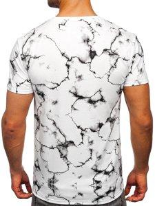 Біла чоловіча футболка з принтом Bolf Y70028