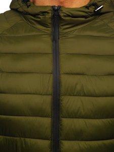 Зелена стьобана чоловіча куртка Bolf 13021