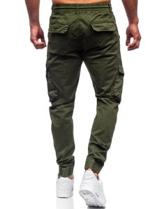Зелені чоловічі штани джоггери карго Bolf CT6707S0