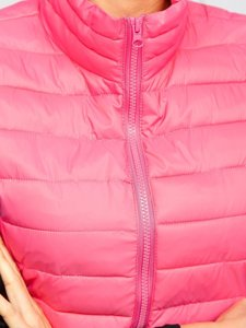 Рожевий стьобаний жіночий жилет Bolf 23038
