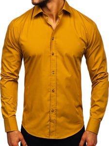 Сорочка чоловіча BOLF 1703 світло-коричнева