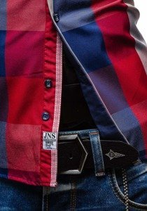 Сорочка чоловіча BOLF 4701-2 червона