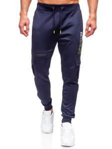 Темно-сині чоловічі спортивні штани карго Bolf K10287
