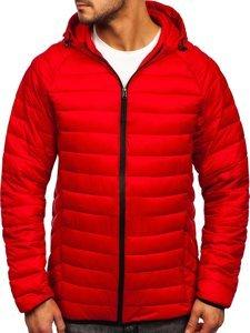 Червона стьобана чоловіча куртка Bolf 13021