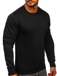 Чоловіча толстовка без капюшона чорна Bolf BO-01