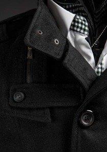 Чоловіче пальто чорне Bolf 8857B