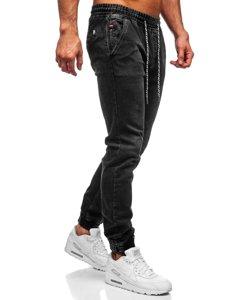 Чорні чоловічі джинси джоггери Bolf KA2193