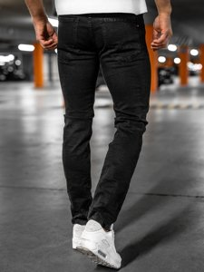 Чорні чоловічі джинсові штани regular fit Bolf 8859