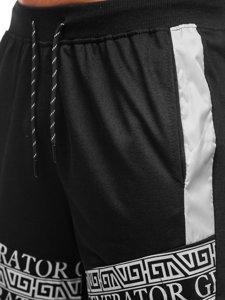 Чорні чоловічі спортивні шорти Bolf KS2563