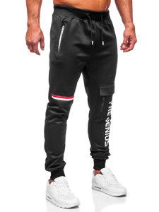 Чорні чоловічі спортивні штани карго Bolf K10277